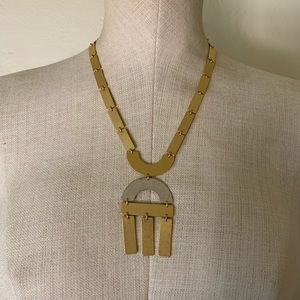 Madewell gold statement necklace